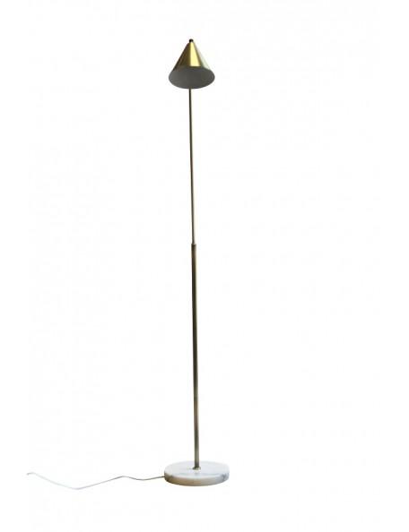 Vadim - Lampe de sol laiton brossé et marbre