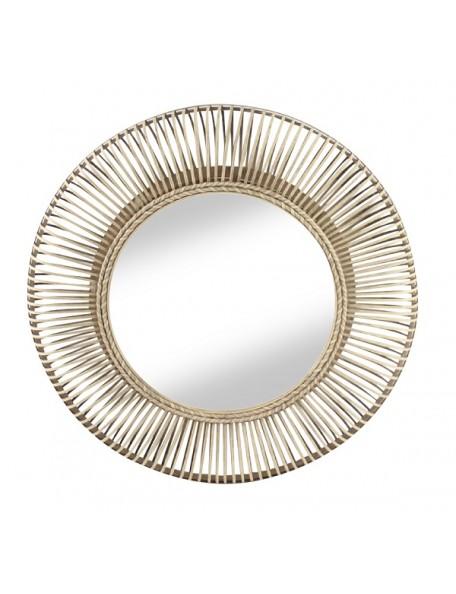 Buenos - Grand miroir rond rotin